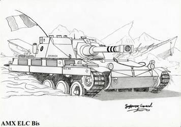 Light Tank AMX ELC by StubbornEmil