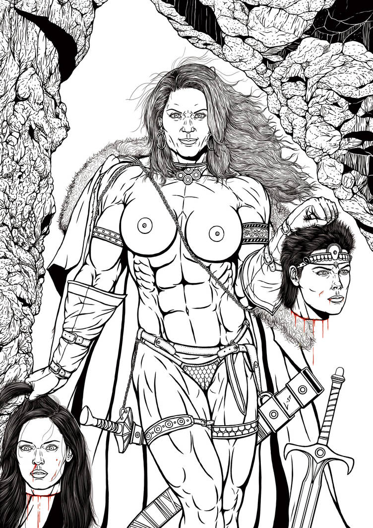 Red Sonja: Head to Head (Lined Version)! by leandro-sf