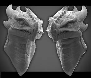 Not So Toothless grey render by lancewilkinson