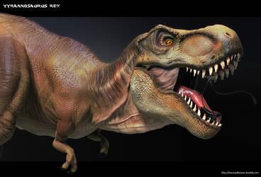 T-Rex Close-up by lancewilkinson