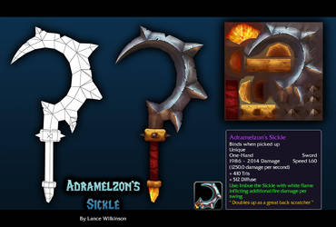Adramelzons Sickle by lancewilkinson