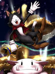 Cait Sith enjoys the Gold Saucer! by Audeol