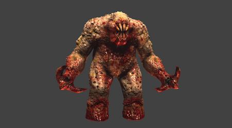 Quake 1 Shambler HD Remake MudBox Work In Progress by s13n1