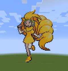 Minecraft Pokefan Ninetales by Commodor-Richter