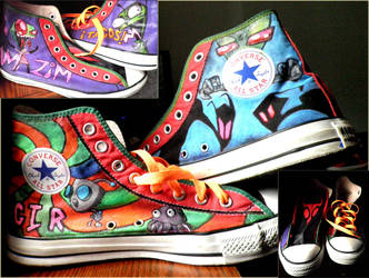 invader zim shoes by YERBALIFE