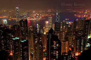 Hong Kong at night by raeid