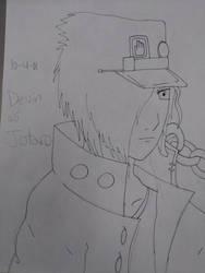 Devin as Jotaro by Wolfiesonic15