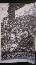 Rampage fan art- Lizzie by Gun345