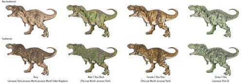 Jurassic Park Realistic- T-Rexes by Gun345