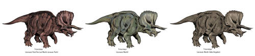Jurassic Park Realistic- Triceratops by Gun345