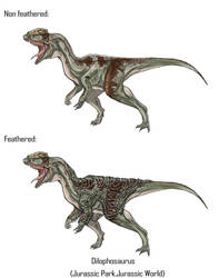 Jurassic Park Realistic- Dilophosaurus by Gun345