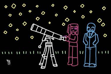 UT Frans Week 2019 Day 4 Sky SansxFrisk telescope by Galefeather