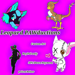 Updated Digital Commission Art Sheet by LeopardPAWductions