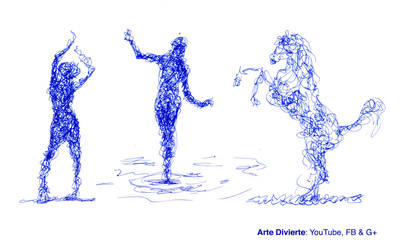 Como dibujar garabateando - Un excelente ejercicio by LeonardoPereznieto