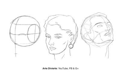 Como dibujar un rostro desde cualquier angulo by LeonardoPereznieto