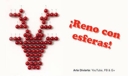 Reno con esferas - Decoracion navidena by LeonardoPereznieto