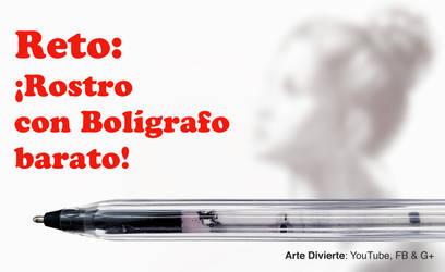 Reto: Dibujar un bello rostro con boligrafo comun by LeonardoPereznieto