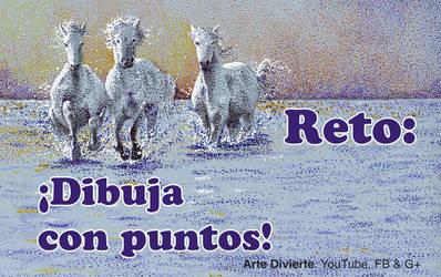 Reto: Dibujando caballos - Puntillismo by LeonardoPereznieto