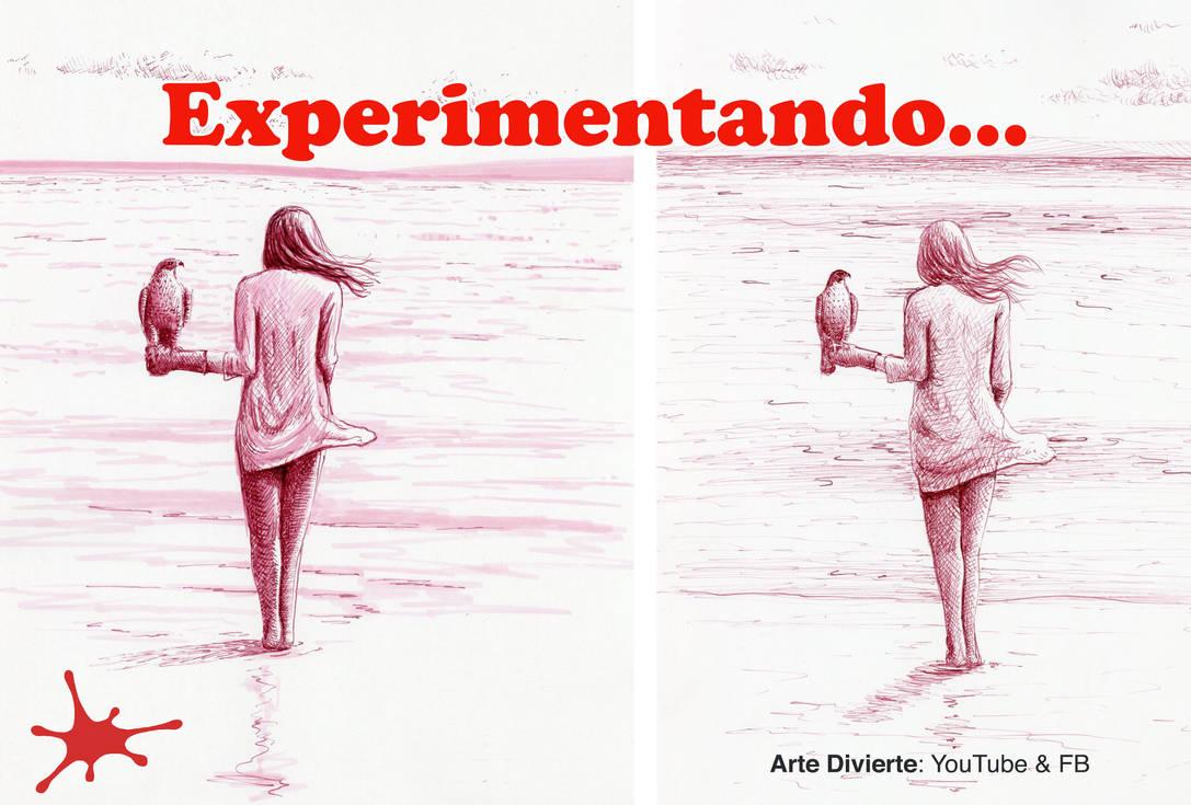 EXPERIMENTANDO! Como dibujar una mujer con halcon by LeonardoPereznieto