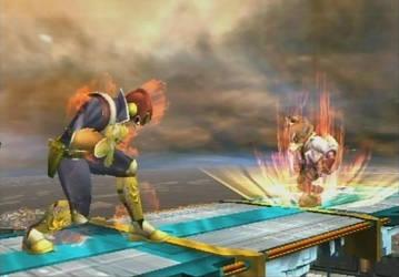 Super Smash Bros. Brawl - Captain Falcon vs. Fox by quincyjazimar13