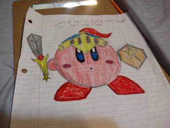 My Sword Hero Kirby from Team Kirby Clash Drawing by quincyjazimar13