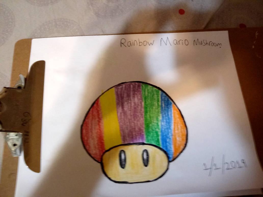 My Rainbow Mushroom drawing by quincyjazimar13
