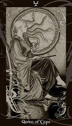 HP Tarot - Queen of Cups by Ellygator