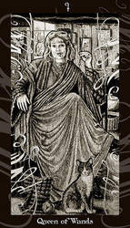 HP Tarot - Queen of Wands by Ellygator
