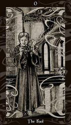 HP Tarot - O The Fool by Ellygator