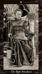 HP Tarot - 2 High Priestess by Ellygator