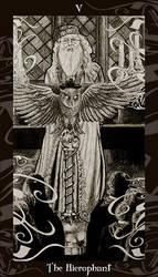 HP Tarot  - 5 The Hierophant by Ellygator