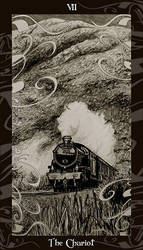 HP Tarot - 7 The Chariot by Ellygator
