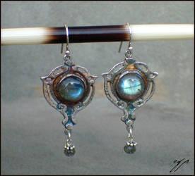 Art Nouveau Earrings by Ellygator