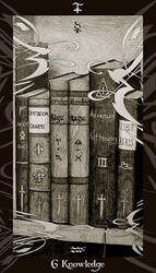 HP Tarot - 6S Knowledge by Ellygator