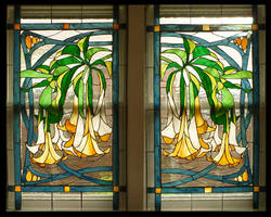Datura Vines Window Pair by Ellygator