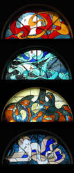 Window: The Four Elements by Ellygator