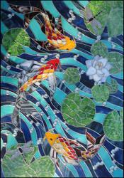 Koi Carp Window II by Ellygator