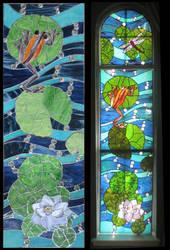 Koi Carp Window IV by Ellygator