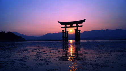 Itsukushima Floating Torii Gate in Japan 4k by NovaFlux