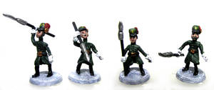 Arendelle Guards with spears by Aetoras