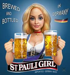 St. Pauli Girl Logo by JamesParce
