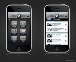 BMW iPhone app Italy layout by camilojones