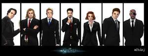 The Avengers in Black by hitokaji