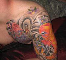 Koi Tattoo Sleeve Buddha 3 by jkrasher