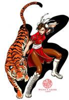 Chun Li Tiger New Year by SylviaDraws