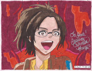 My Hange Zoe Drawing Signed By Jessica Calvello by kagome122885