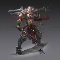 Eastern warrior by phoeni-x-man