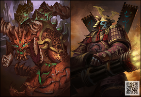 Prime Evil+Skull Warrior by phoeni-x-man