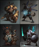 A few works for business used. by phoeni-x-man