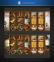 SLOTS Game icons of a Cowboy theme by phoeni-x-man